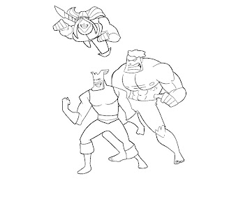 #3 Justice Friends Coloring Page