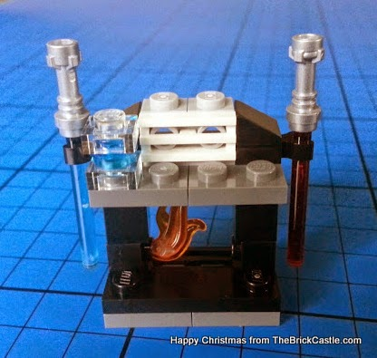 The LEGO Star Wars Advent Calendar Day 23 lightsabre fireplace