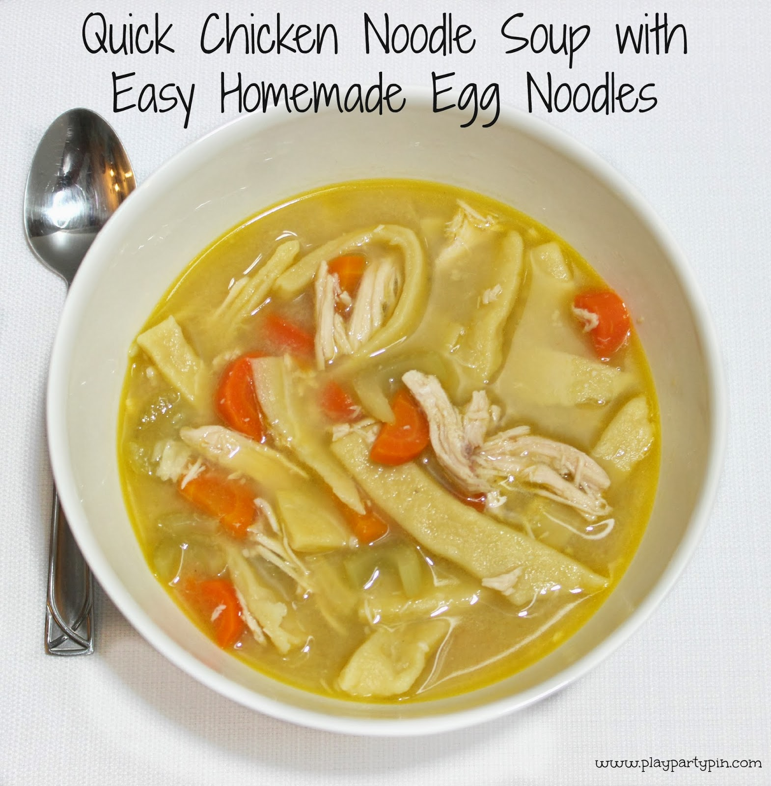 Chicken noodle soup with homemade egg noodles for How to make homemade chicken noodle soup