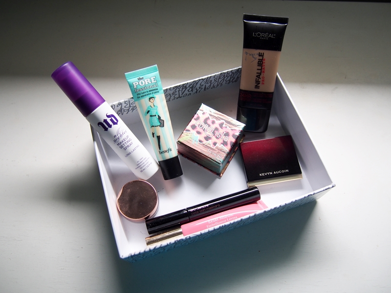 summer makeup essentials in a box