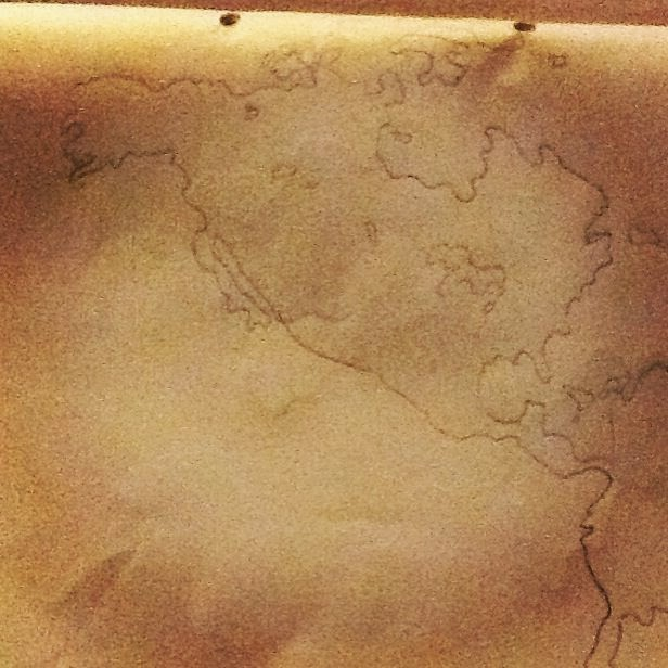 hand drawn map North America