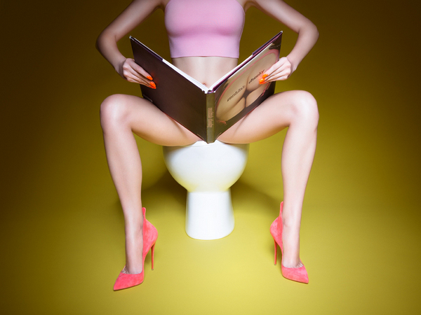 Lady in the Loo | Plastic Magazine