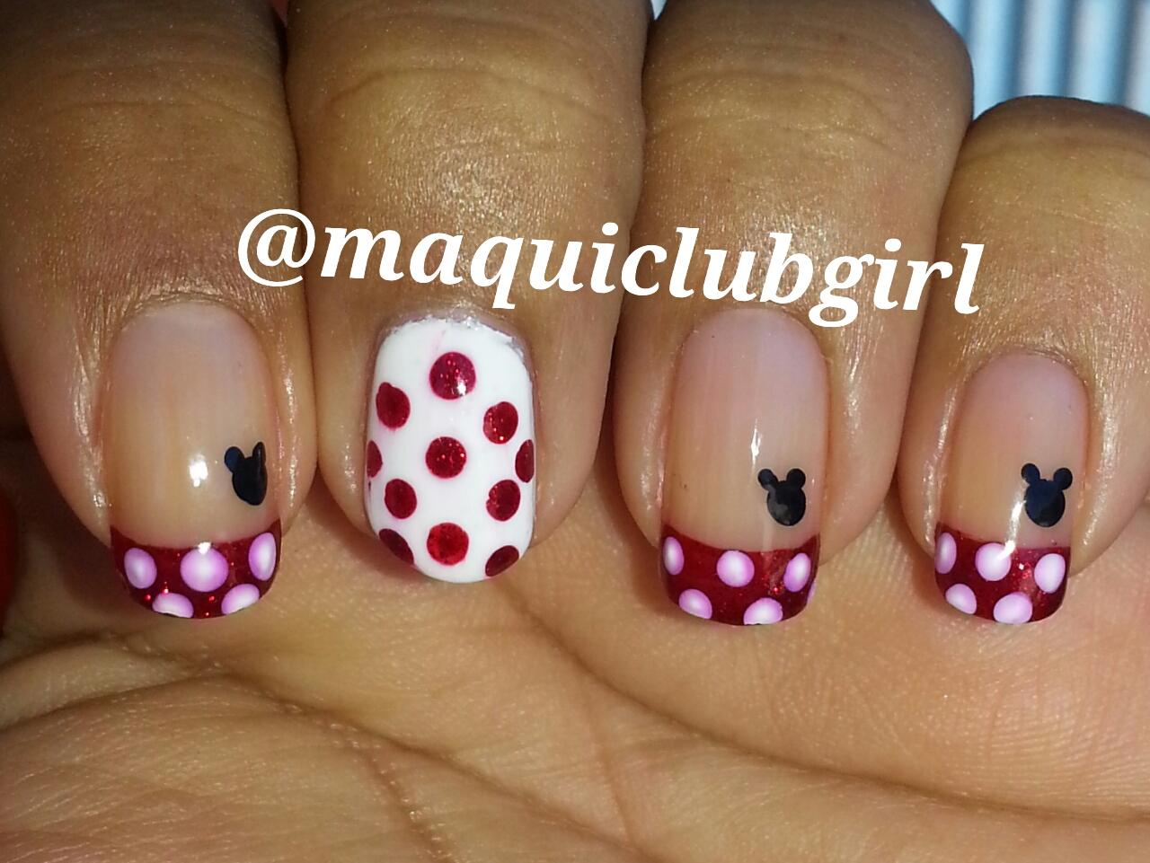 Bonito Mickey Mouse Esmalte De Uñas Festooning - Ideas de Diseño de ...