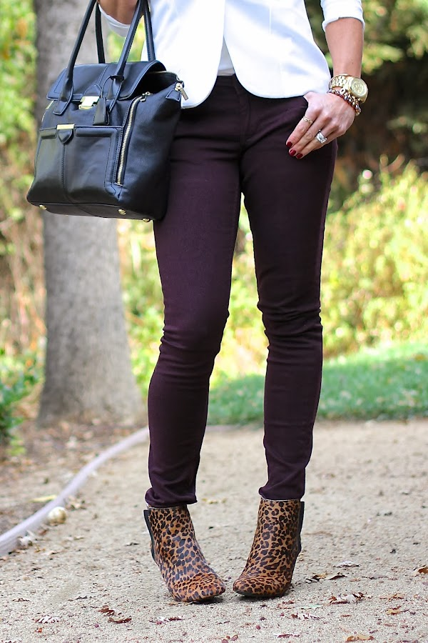 skinny jeans leopard booties