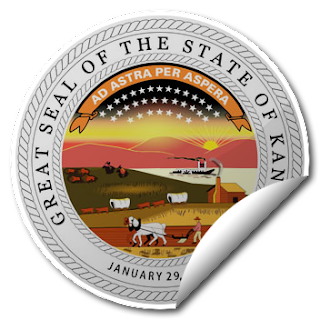 Sticker of Kansas Seal