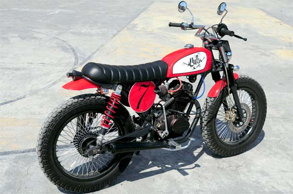 Modifikasi Honda CB 100 Street Tracker