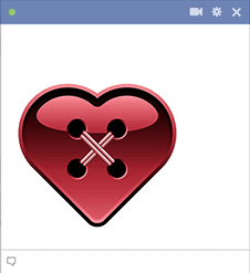 Button Heart Facebook Sticker