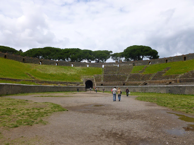 Inside the Pompeii coliseum / amphitheatre