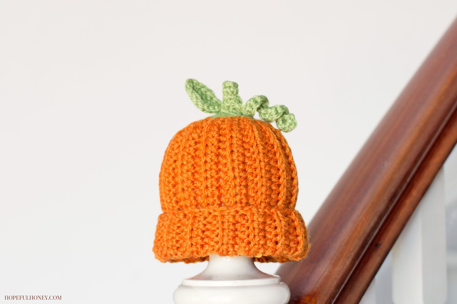 Free Newborn Pumpkin Hat Crochet Pattern : Newborn Pumpkin Hat - Interweave