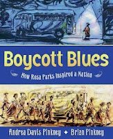 bookcover of BOYCOTT BLUES:  HOW ROSA PARKS INSPIRED A NATION  by Andrea Davis Pinkney
