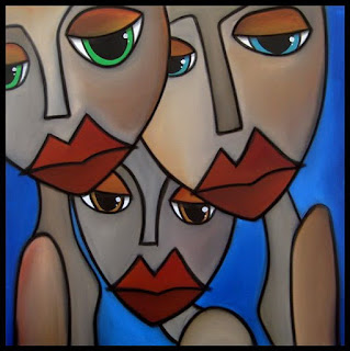 Cuadros Abstractos Caras