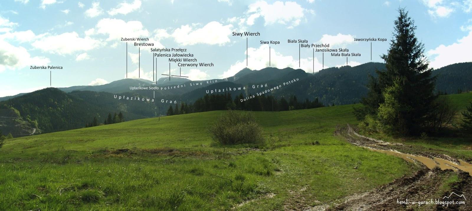 Panorama z Huciańskiej Przełęczy