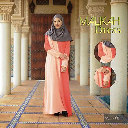 5 Warna Pilihan Terbaru Malikah Dress material Super High Quality Chiffon Sangat Sejuk & Selesa
