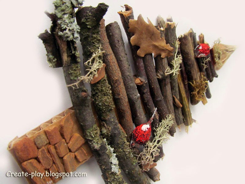 Деревянная Эко-ёлочка с корицей