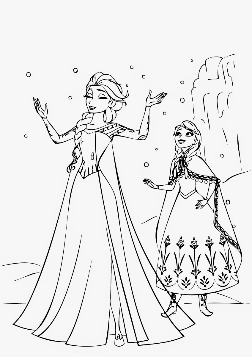 Frozen Coloring Pages To Print Instant Knowledge