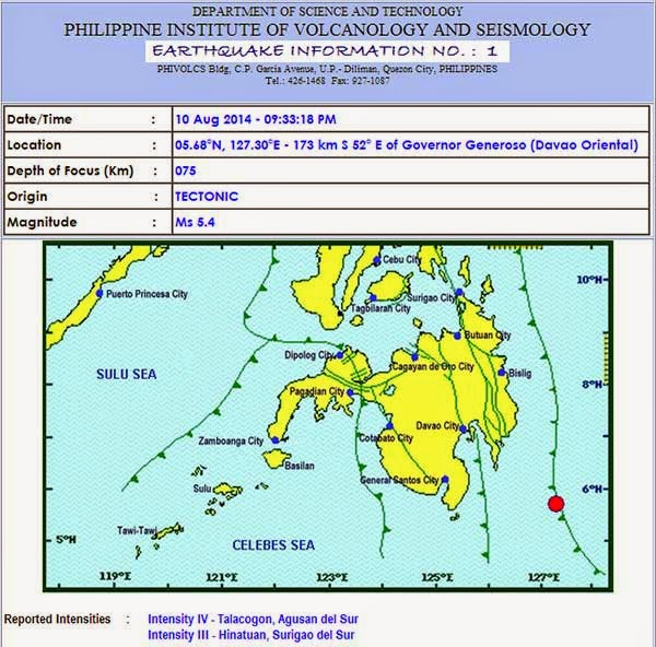 Earthquake Davao Oriental (August 10, 2014)