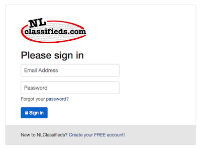 NL Classifieds Sign In
