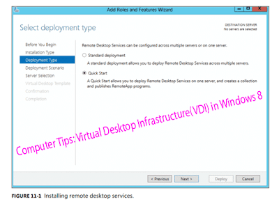 Computer Tips: Virtual Desktop Infrastructure(VDI) in Windows 8