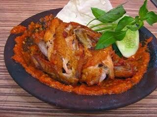 Ayam Penyet Lezat, resep ayam penyet, ayam sambal,