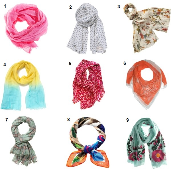The Accessorizer How to Wear Lightweight SpringSummer Scarves Can You Wear Scarves In Summer