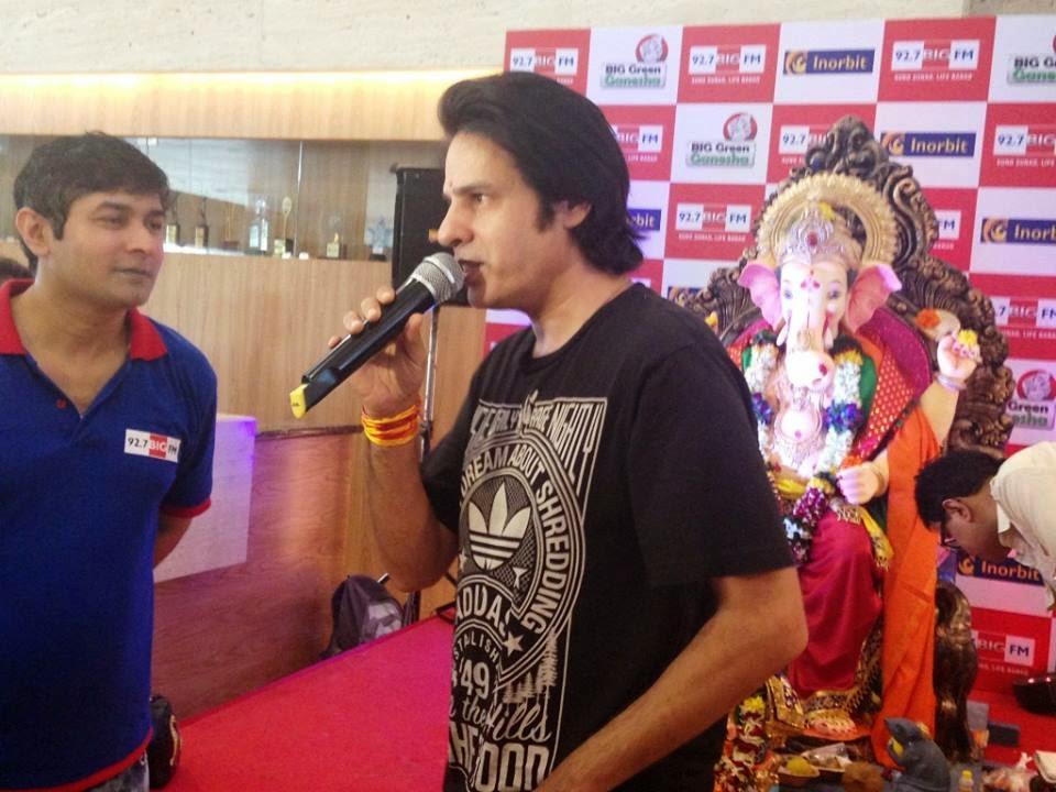 Celebs visit eco friendly Big Green Ganesha at Inorbit Mall