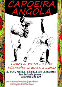 Desde el 6 de Septiembre, aulas de capoeira angola con el Profesor Diego !!