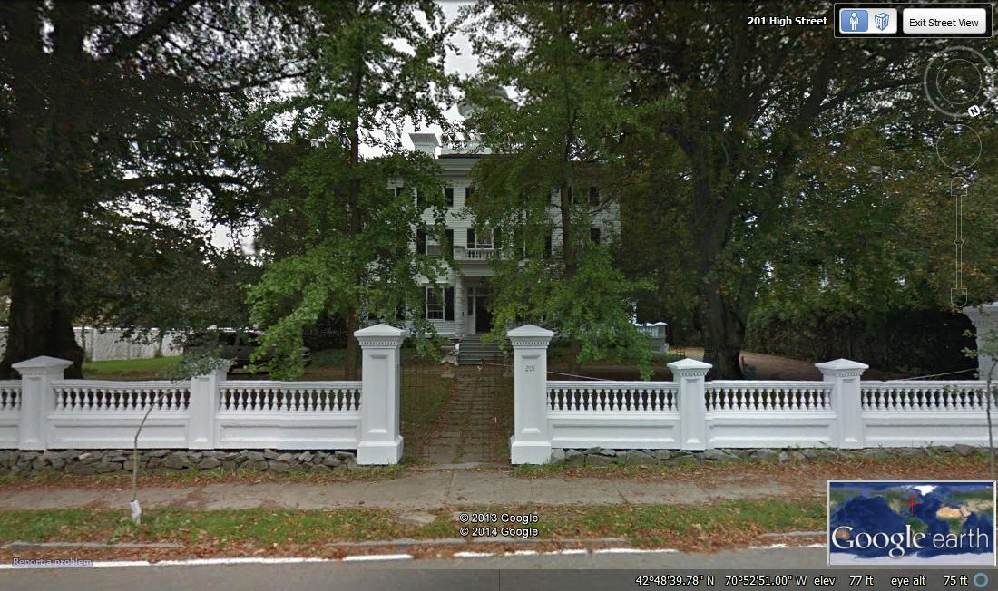 dexter, mansion, newburyport, fence, sepia saturday, eccentric, shipping, massachusetts,