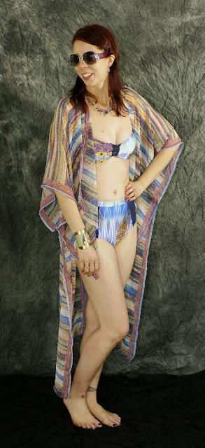 My Beach Glam Style!: Filosofia Retro Bikini, BCBG Generation Coverup from Winners, Mizdragonfly Wonder Woman Cuff Bracelet, Shop For Jayu Candie Blue Necklace, Fashion, Outfit, OOTD, Bathing, Brazil, fabfind, Summer Toronto, Ontario, Canada, The Purple Scarf, Melanie.Ps, vintage, Bahai, Candomble