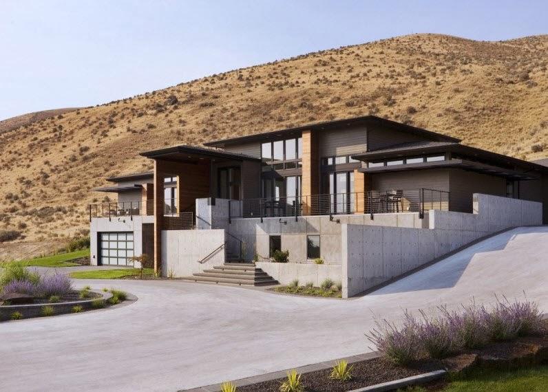 Dise o de casa grande en la monta a con moderno dise o for Casa en la montana