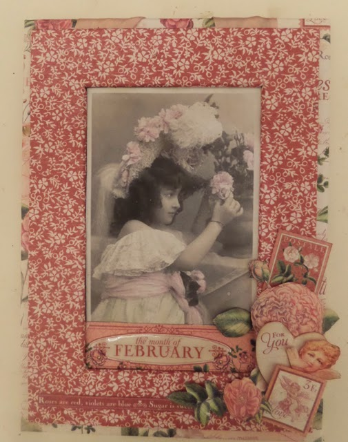 Time To Flourish Decorative Frame February Clare Charvill Jones Crafts Graphic 45