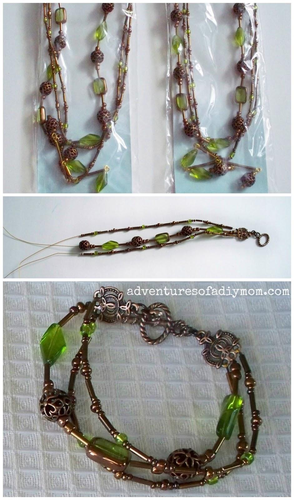 Turn a necklace into a bracelet