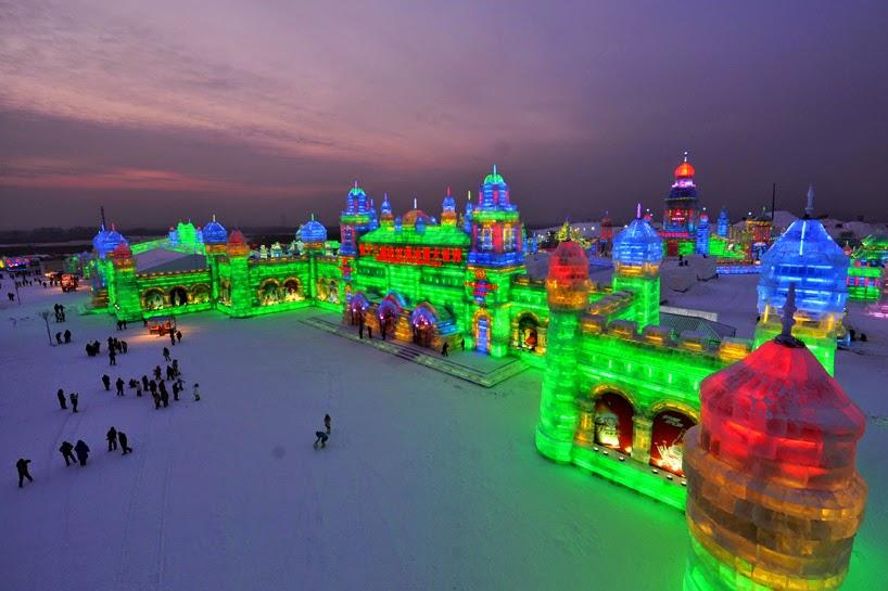 Festival de esculturas de hielo y nieve de Harbin, China