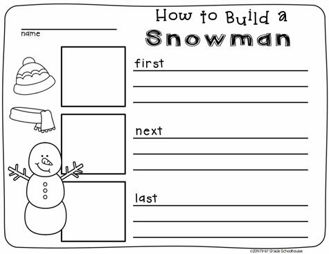 Created some snowman writing printables that can be used with snowman