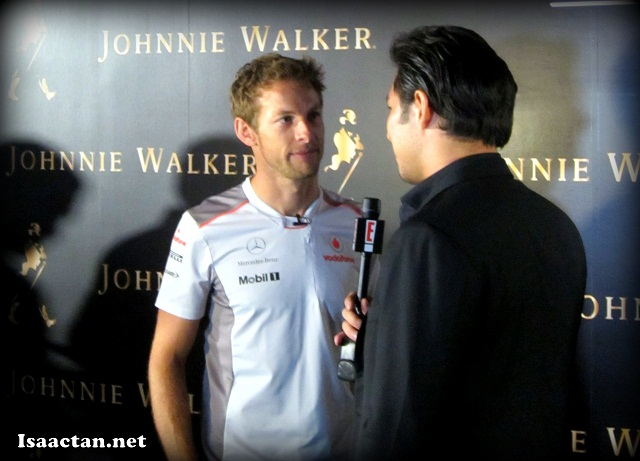 Jenson Button at Johnnie Walker Black Circuit Lounge 2012