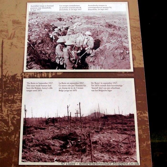Australian troops at Polygon Wood in 1917, Flanders Fields Belgium