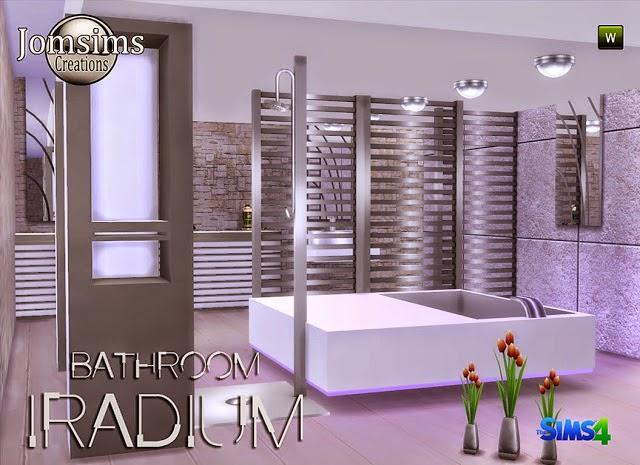 My sims 4 blog iradium bathroom set by jomsims for Bathroom ideas sims 3