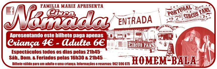 Bilhete Promocional Circo Nómada/Portugal Circus Fans