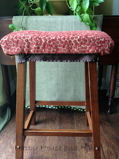 upholstering a stool, upholstered stool