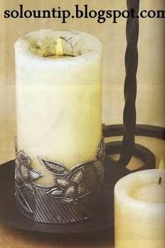 Manualidades velas decoradas en repujado Lodi1