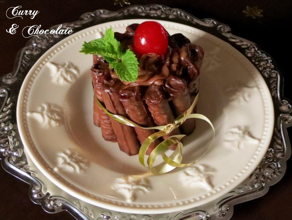 1. Mini charlotte de mousse de chocolate o Nutella