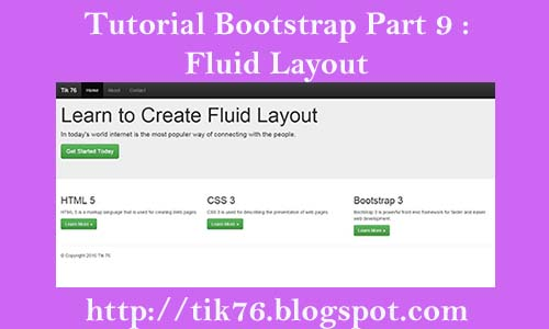 Bootstrap 3 Basic Tutorial: Creating a Simple Fluid Layout
