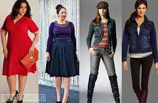 Tips Memilih Model Pakaian sesuai Bentuk Tubuh