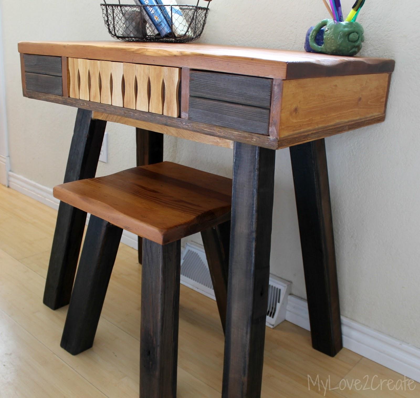 Desk I Love 80s : I turned an end table into a desk my love create