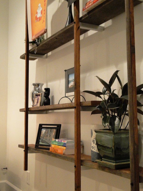 DIY Reclaimed Wood Floating Shelves