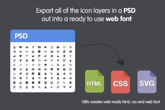 photoshop icon web font maker