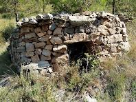 Barraca de vinya a la zona de la Bagueta