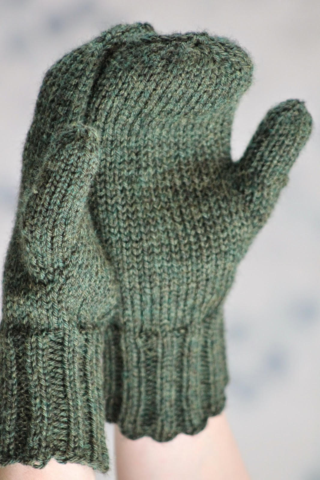 Knitting Pattern For Mittens Using Two Needles : Balls to the Walls Knits: Doug Fir Mittens