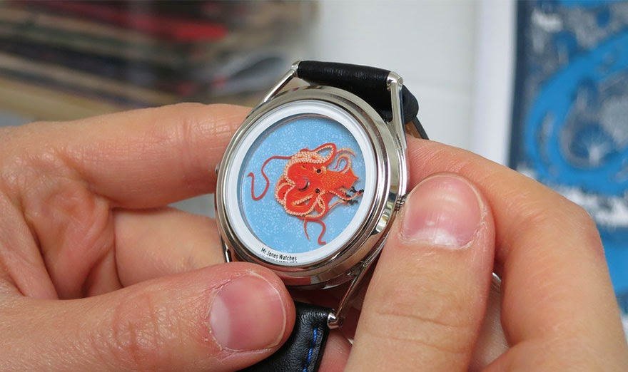 24 Of The Most Creative Watches Ever - Wingt Mille Watch – The Two Men Being Held By The Squid Indicate The Hours And Minutes