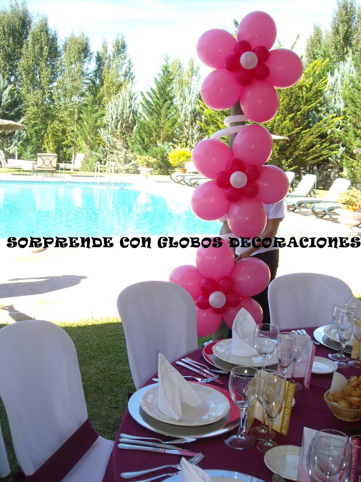 Sorprende con globos decoraciones comuniones 2011 - Decoracion con globos ...
