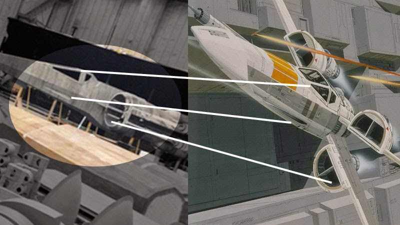 Today J.J. Abrams Gave Us A Little Tease Of The New X Wing Model From  Episode VII Set (Which Seems To Be Based On An Old Ralph McQuarrie X Wing  Design From ...